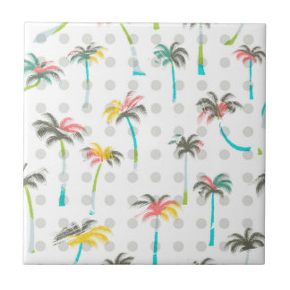Watercolor Palm Trees Ceramic Tile