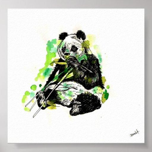 Watercolor Panda Poster