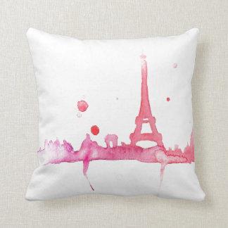Watercolor Paris Pillow By Megaflora