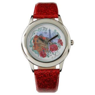 Watercolor Paris Wristwatches