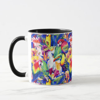 Watercolor Parrots Mug