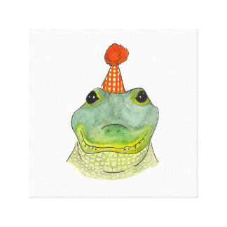 Watercolor Party Gator Wall Art