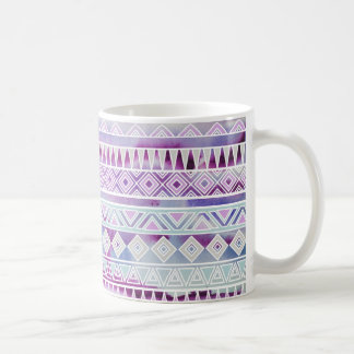 Watercolor Pastel Aztec Inspired Pattern Classic White Coffee Mug