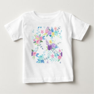 Watercolor pastel color floral pattern baby T-Shirt