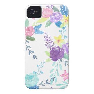 Watercolor pastel color floral pattern iPhone 4 Case-Mate case