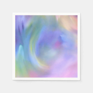 Watercolor Pastel Rainbow - All Options Paper Napkins