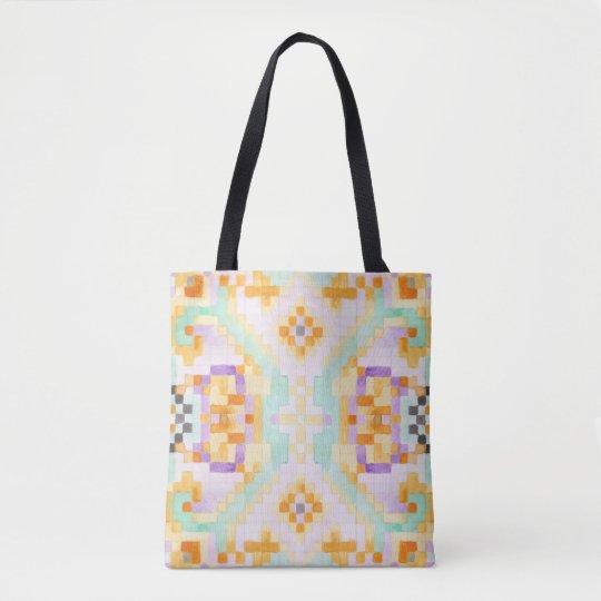 Watercolor pastel tote bag