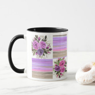 Watercolor . Patchwork . Mug
