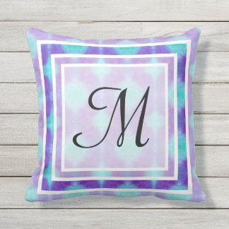 Watercolor Pattern I Outdoor Pillow