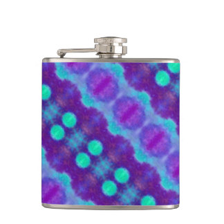 Watercolor Pattern II Hip Flask