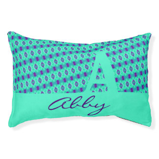 Watercolor Pattern IIII with Text Pet Bed