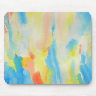 Watercolor Pattern Mouse Pad