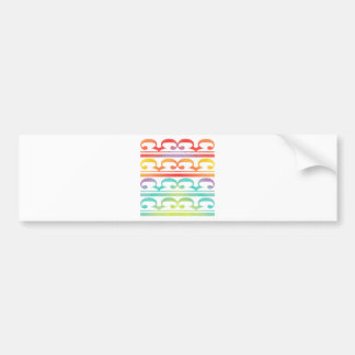 Watercolor Pattern Rainbow - water color sample Bumper Sticker