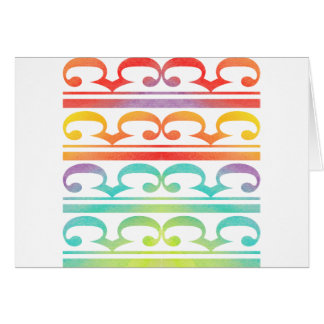 Watercolor Pattern Rainbow - water color sample Card