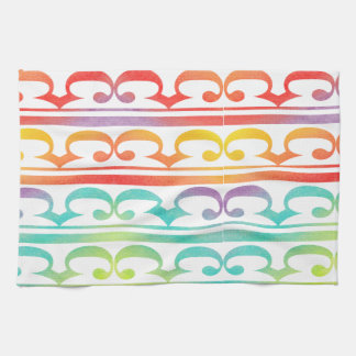 Watercolor Pattern Rainbow - water color sample Kitchen Towel