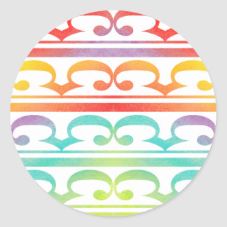 Watercolor Pattern Rainbow - water color sample Round Sticker