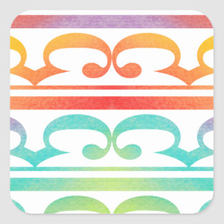 Watercolor Pattern Rainbow - water color sample Square Sticker