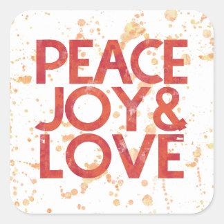 Watercolor Peace Christmas Holiday Envelope Seal