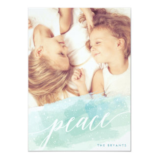 Watercolor Peace Holiday Photo Cards