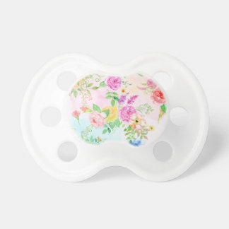 Watercolor Peach and Yellow Rose Pattern Pacifier