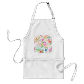 Watercolor Peach and Yellow Rose Pattern Standard Apron