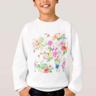 Watercolor Peach and Yellow Rose Pattern Sweatshirt