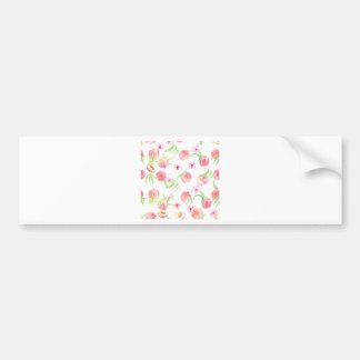 Watercolor peach pattern bumper sticker