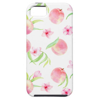 Watercolor peach pattern case for the iPhone 5