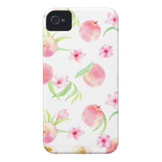 Watercolor peach pattern iPhone 4 Case-Mate cases