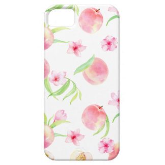 Watercolor peach pattern iPhone 5 covers