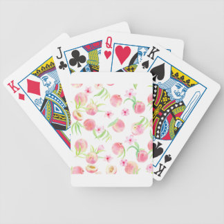 Watercolor peach pattern poker deck