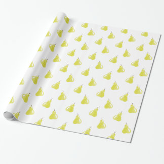Watercolor Pear Pattern Wrapping Paper
