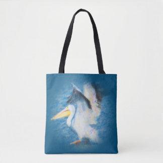 watercolor pelican 17 all-over tote