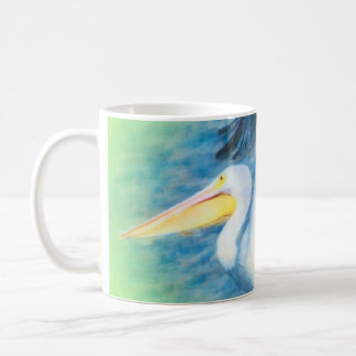 watercolor pelican 17 coffee mug
