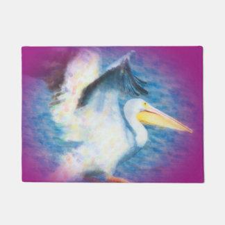 watercolor pelican 17 door mat