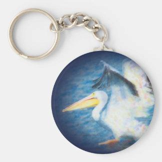 watercolor pelican keychain