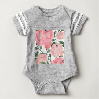 Watercolor Peonies 1 Baby Bodysuit
