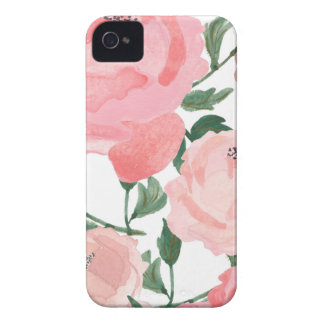 Watercolor Peonies 1 iPhone 4 Covers