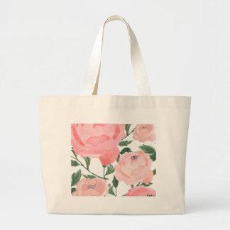 Watercolor Peonies 1 Large Tote Bag