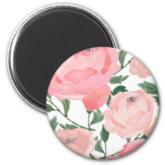 Watercolor Peonies 1 Magnet