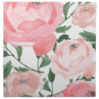 Watercolor Peonies 1 Napkin