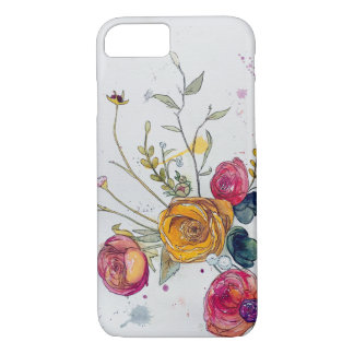 Watercolor Peonies and Wildflowers Case