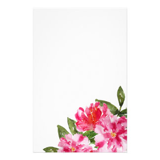 Watercolor Peonies customizable stationery