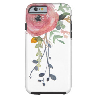 Watercolor Peony Flower iPhone Case