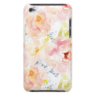 Watercolor Peony Pink Watercolor Flower iPod Touch Cases
