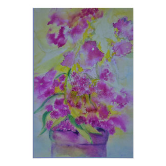 watercolor phlox print