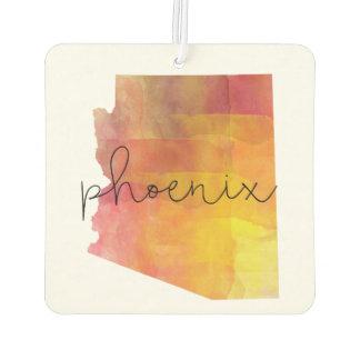 Watercolor Phoenix Arizona Car Air Freshener