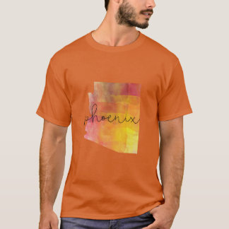 Watercolor Phoenix Arizona Custom Color T-Shirt