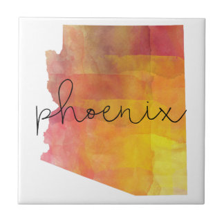 Watercolor Phoenix Arizona Tile