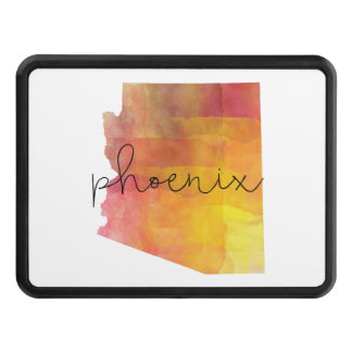 Watercolor Phoenix Arizona Trailer Hitch Cover